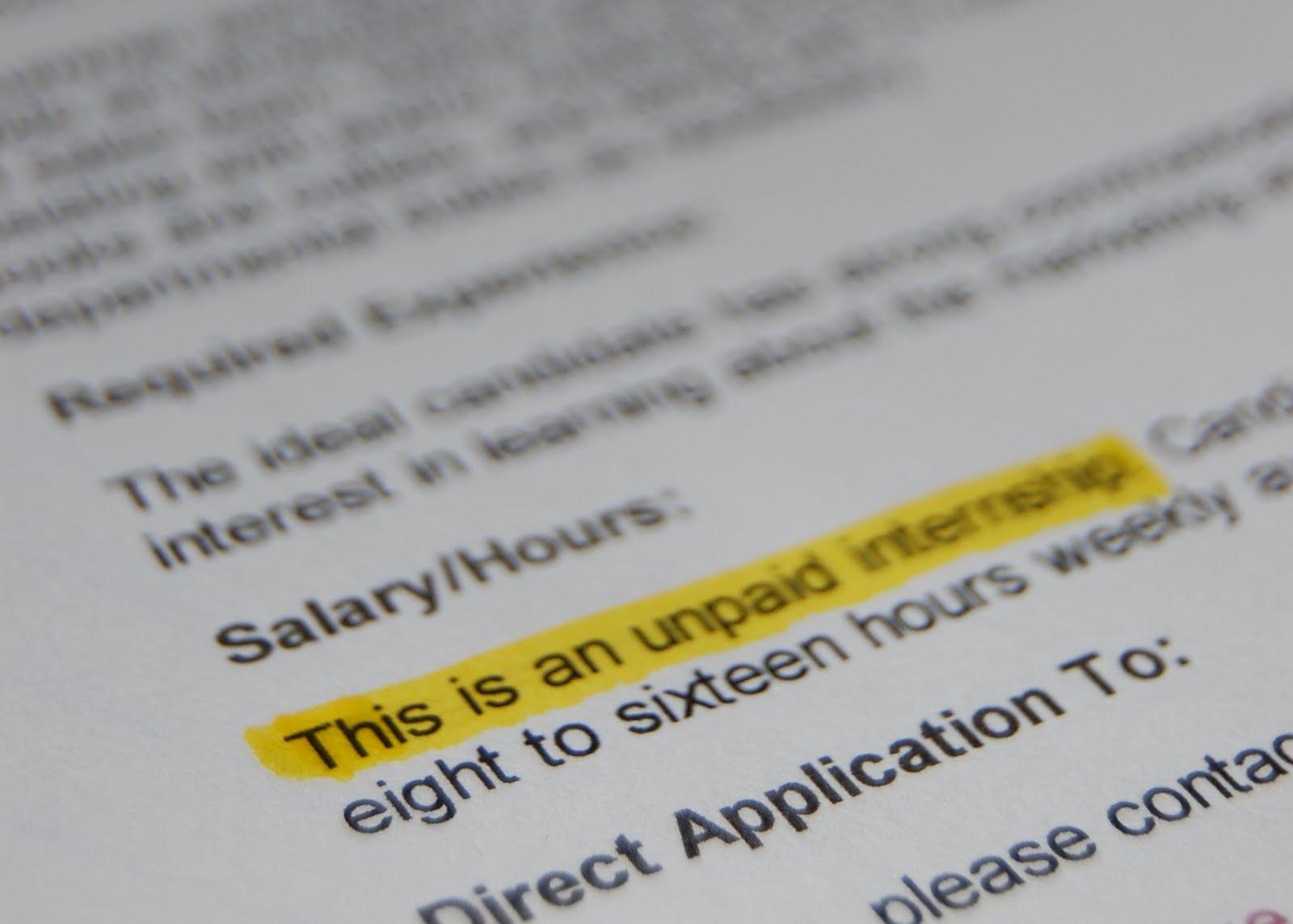 unpaid vs  paid internships  focus on experience but make