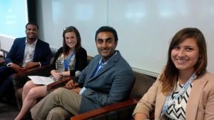 """Freshman Class"" PR pros Shawn Jackson, Megan Zagger, Iman Rahim, Michelle Rivas."