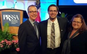 Culpwrit scholar Trent Ostrom, center, with his UNO adviser Karen Weber
