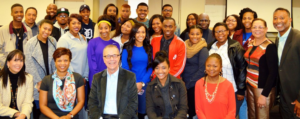 Several Dillard University students and faculty joined us for a group selfie following Mentorship Forum.