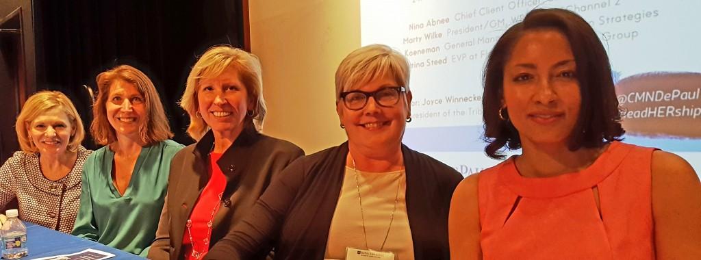 Communications Leaders Joyce Winnecke , Claire Koeneman, Marty Wilke, Nina Abnee and Christina Sneed