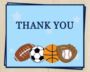 Thank You Note, sports