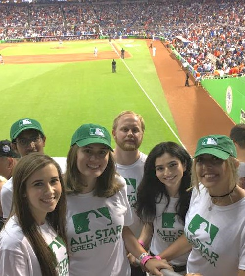 All-Star PR students Kaitlin Stransky, Nikil Bontu,Caroline Fronczak, Jeremy Andrus,Samantha Rivera, Hadeel Sweiss