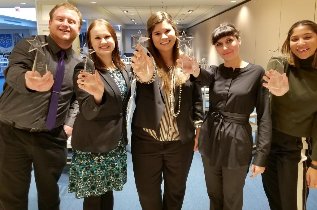Betsy Plank Case Study winning team: Asa McCormick, Kate Neuberg, Drien Kihn, Svetlana Jankewicz and Emily Caldwell.